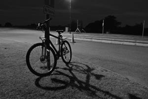 Bike shadow 4am