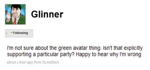 Glinner Tweet
