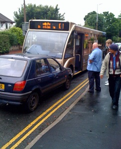 Driverless Fiesta crashed into bus